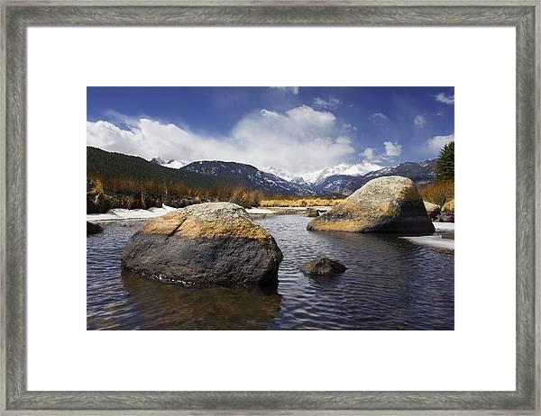 Rocky Mountain Creek Framed Print