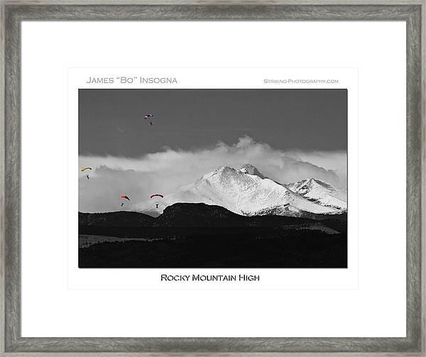 Rocky Mountain High Poster Print Framed Print