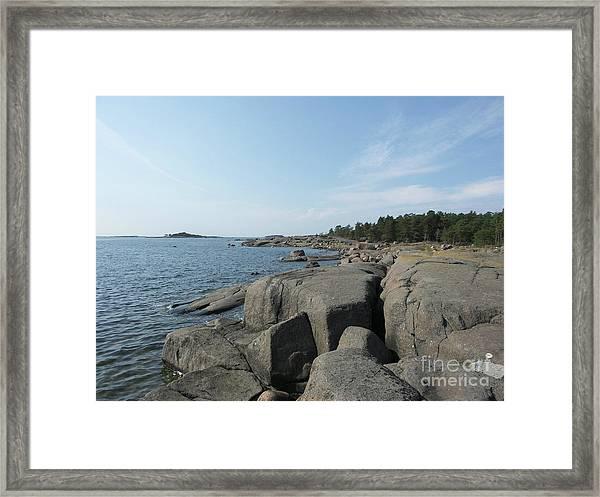 Rocky Seashore 2 In Hamina  Framed Print