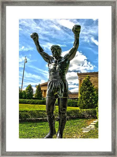 Rocky Statue Framed Print by Frank Savarese