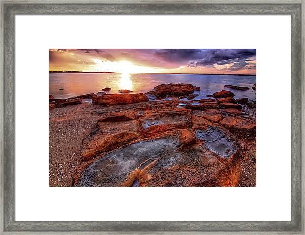 Rocky Sunset Framed Print