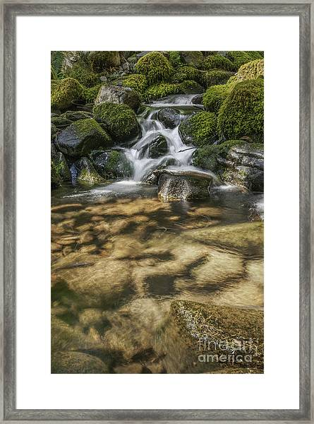 Rocky Waterfall Framed Print