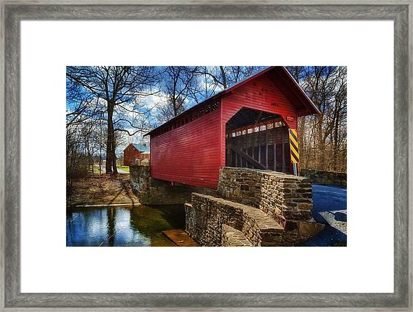 Roddy Road Covered Bridge Framed Print