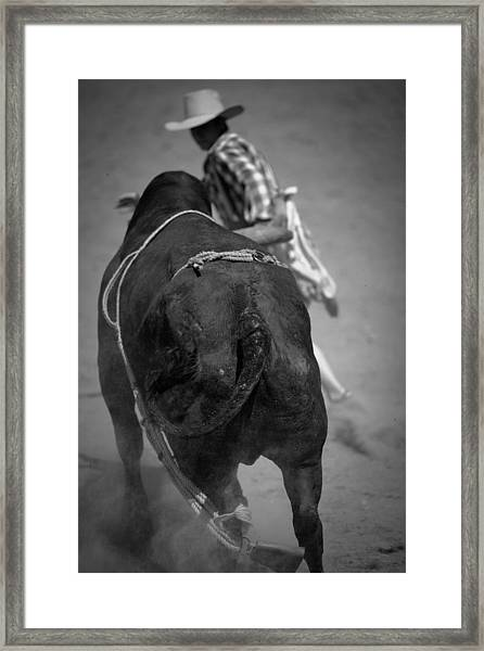 Rodeo Clown Framed Print