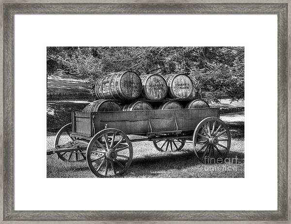 Framed Print featuring the photograph Roll Out The Barrels by Mel Steinhauer