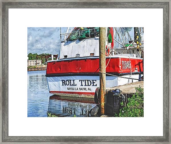Roll Tide Stern Framed Print