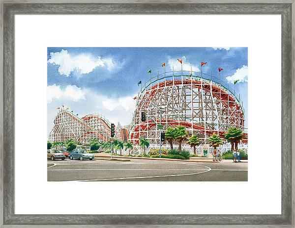 Roller Coaster Mission Beach Framed Print