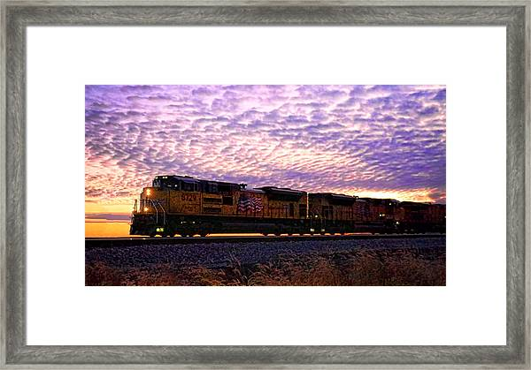 Rollin' Around The Bend Framed Print