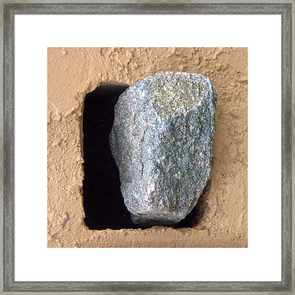 Rolling Back The Stone Framed Print