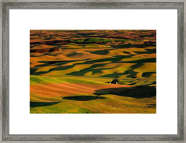 Rolling Hills Of Time Framed Print