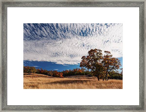 Rolling Hills Of The Texas Hill Country In The Fall - Fredericksburg Texas Framed Print