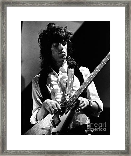 Keith Richards Rolling Stones  1969 Framed Print