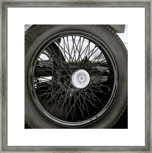 Rolls Royce Wheel Framed Print