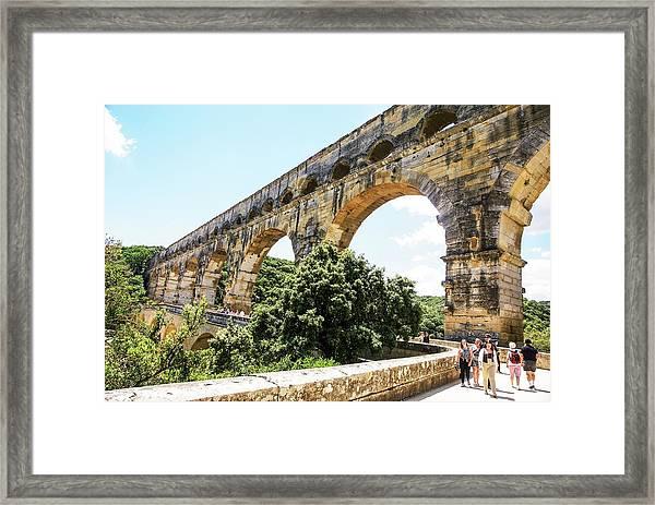 Roman Aqueduct Gardon River Framed Print