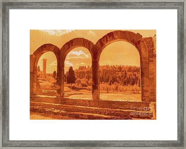 Roman Arches At Fiesole Framed Print