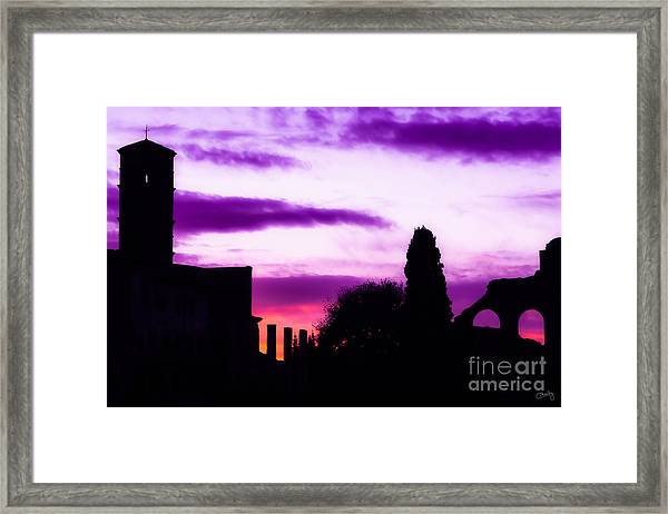 Roman Sunrise Framed Print