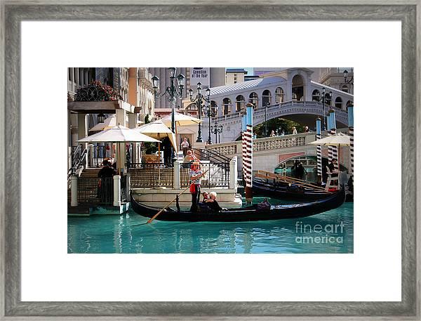 Romance At The Venetian Framed Print