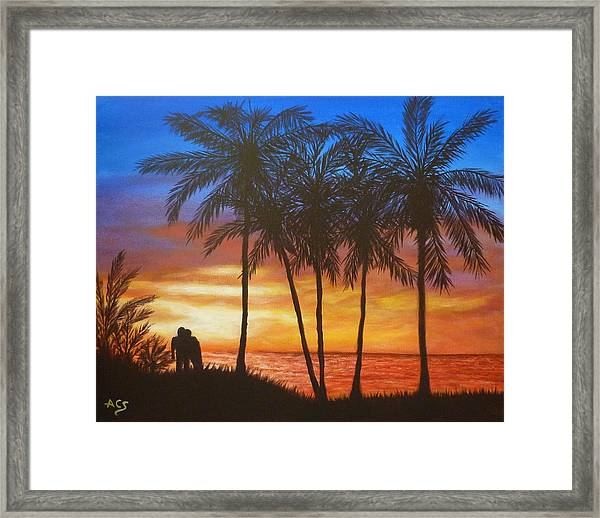 Romance In Paradise Framed Print