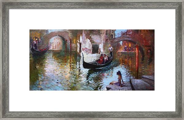Romance In Venice 2013 Framed Print