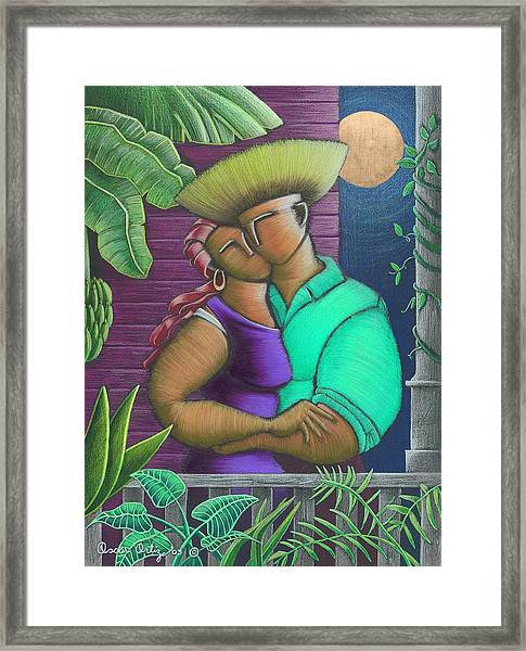 Framed Print featuring the painting Romance Jibaro by Oscar Ortiz