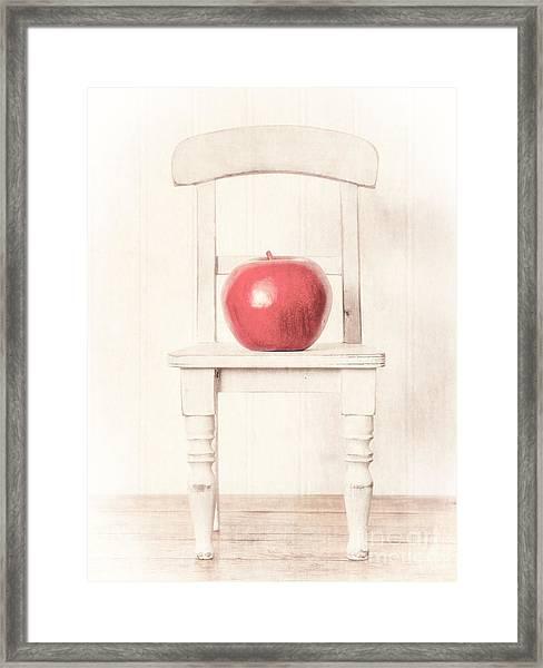 Romantic Apple Still Life Framed Print