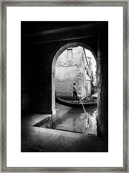Romantic Venice! Framed Print
