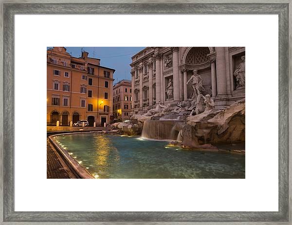 Rome's Fabulous Fountains - Trevi Fountain At Dawn Framed Print