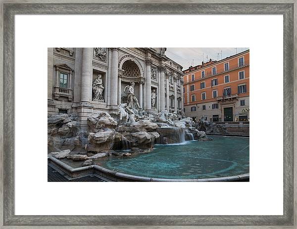 Rome's Fabulous Fountains - Trevi Fountain No Tourists Framed Print