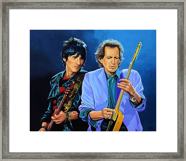 Ron Wood And Keith Richards Framed Print
