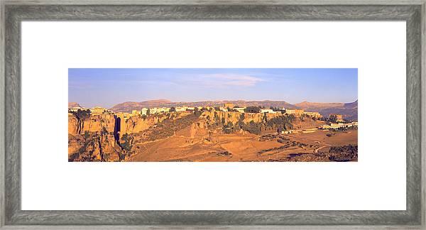 Ronda Gorge, Andalucia, Spain Framed Print