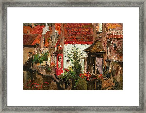 Roofs Of Brugge Framed Print by Oleg Trofimoff