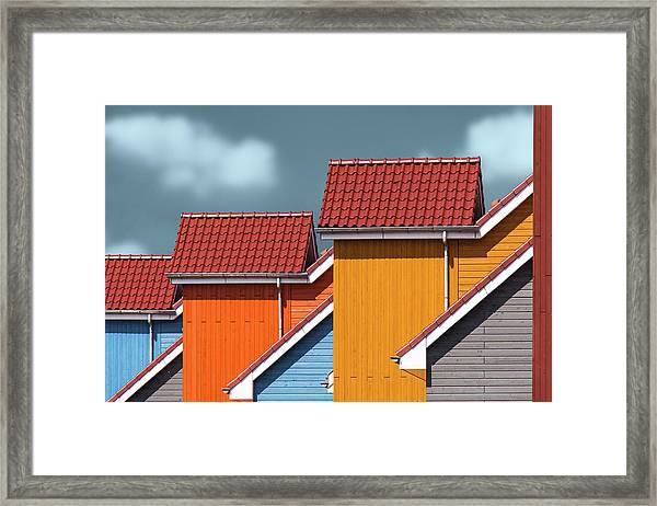 Roofs Framed Print