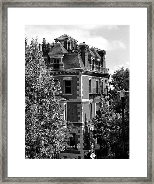Rooftop Patio Framed Print