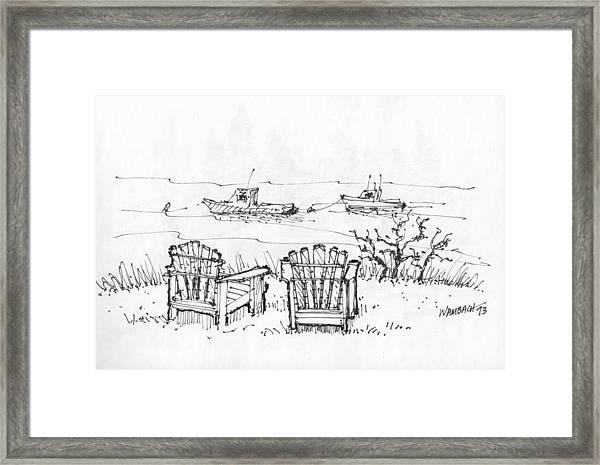 Room For Two Monhegan Island 1993 Framed Print