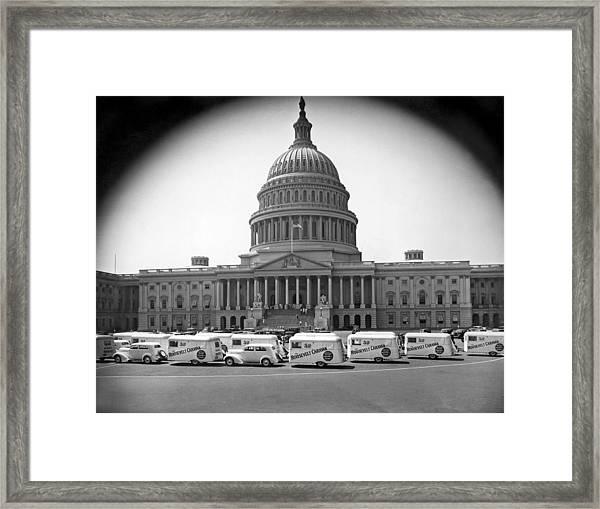 Roosevelt Caravan Trailers Framed Print