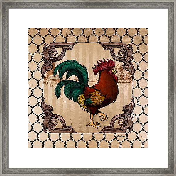 Rooster I Framed Print