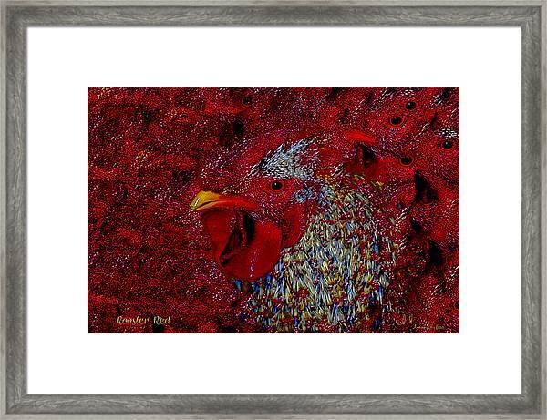 Rooster Red Framed Print