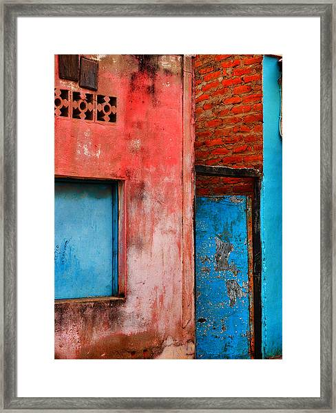 Framed Print featuring the photograph Rosa's Place by Skip Hunt