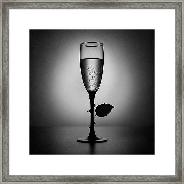 Rose Champagne(an Improved Version) Framed Print by Victoria Ivanova