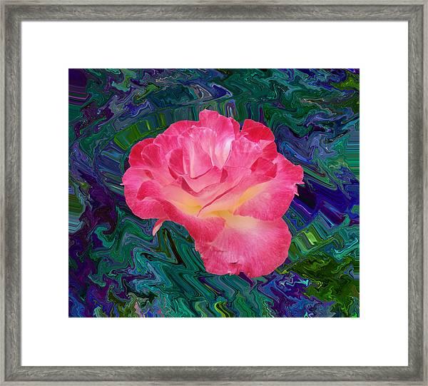 Rose In The Matter Of Your Hand V7 Framed Print