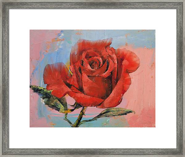 Rose Painting Framed Print