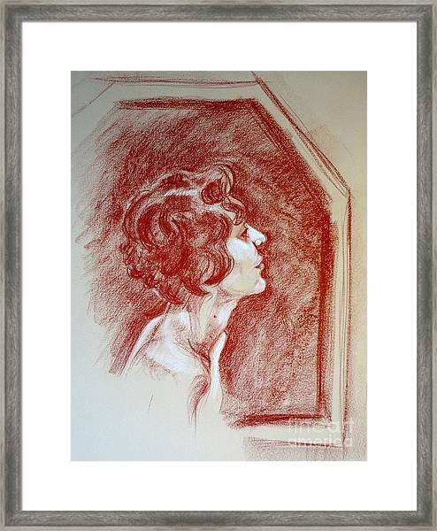 Rose Portrait Framed Print