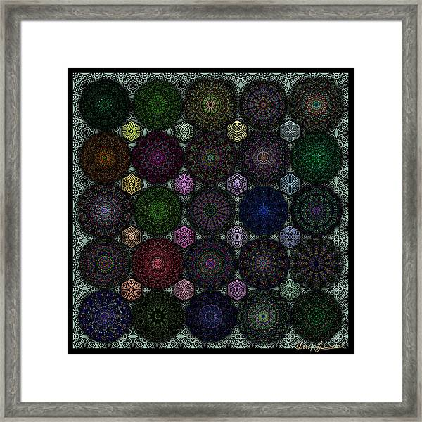 Rose Window Kaleidoscope Quilt Framed Print