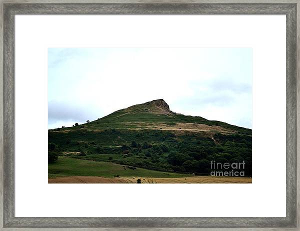 Framed Print featuring the photograph Roseberry Topping Hill by Scott Lyons