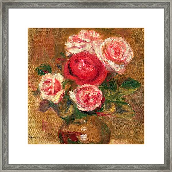 Roses In A Pot Framed Print