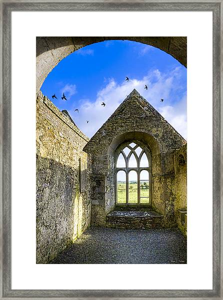 Ross Errilly Friary - Irish Monastic Ruins Framed Print