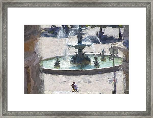 Rossio Square Lisbon Framed Print