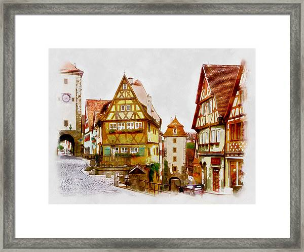 Rothenburg Framed Print