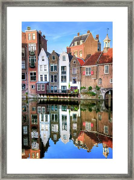 Rotterdams Delfshaven With His Historic Framed Print