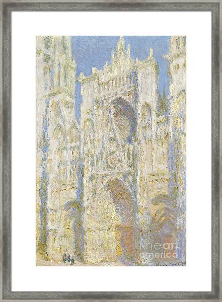 Rouen Cathedral West Facade Framed Print
